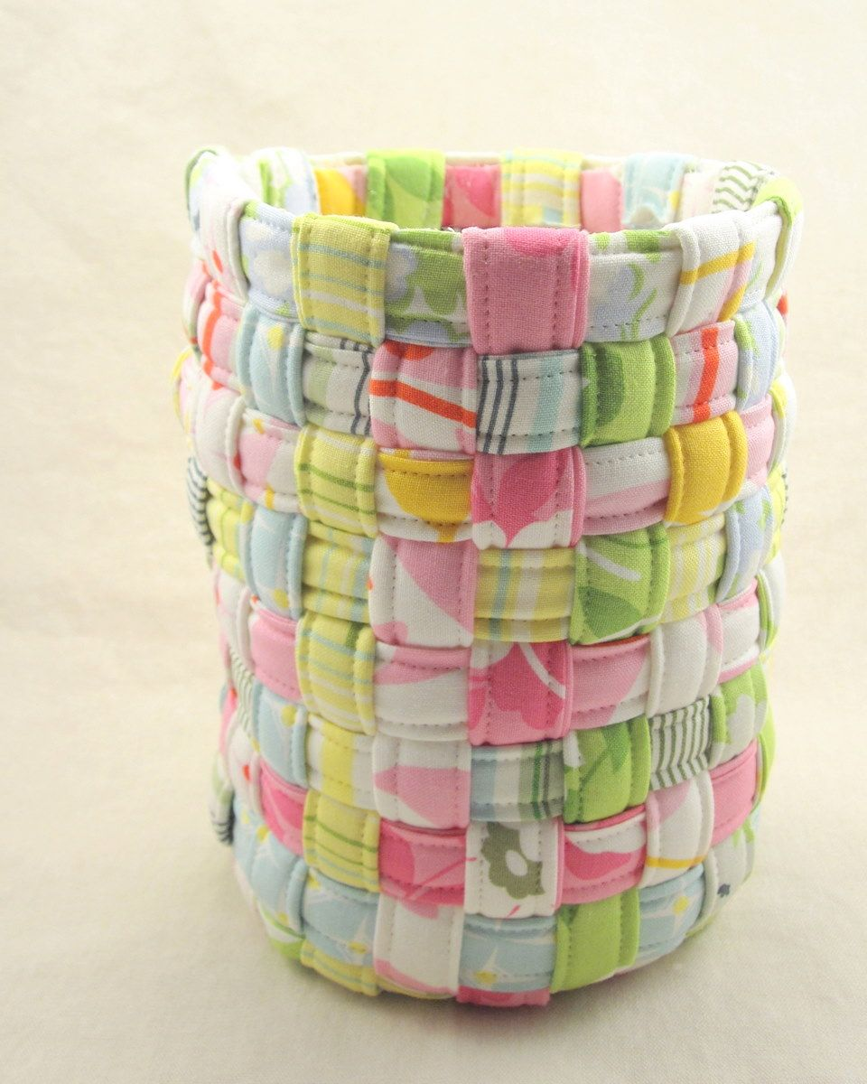 weaving fabric strips tutorial
