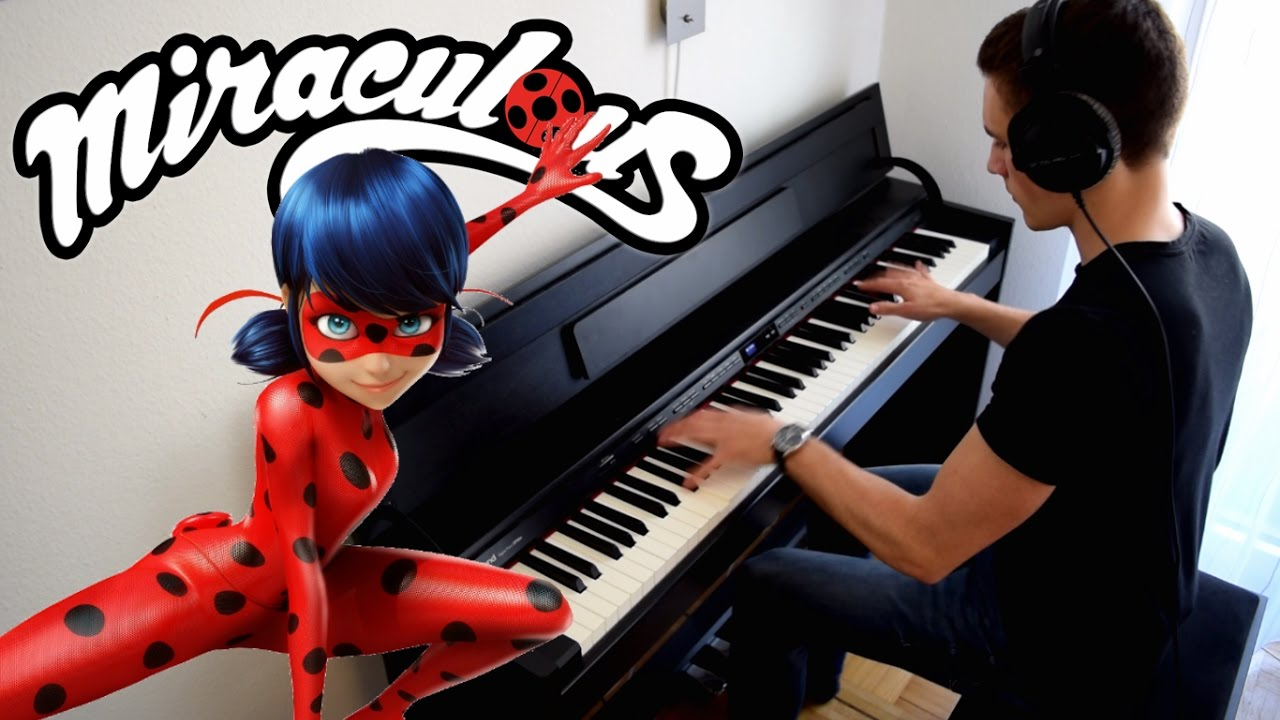 miraculous ladybug theme song synthesia piano tutorial