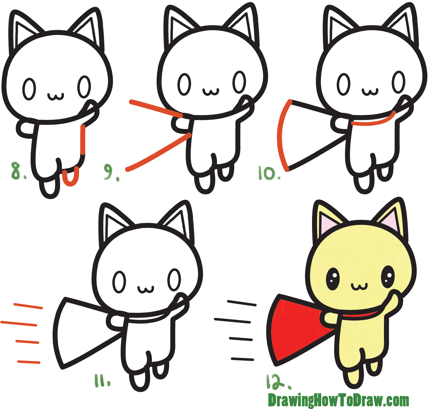 how to draw a cat tutorial