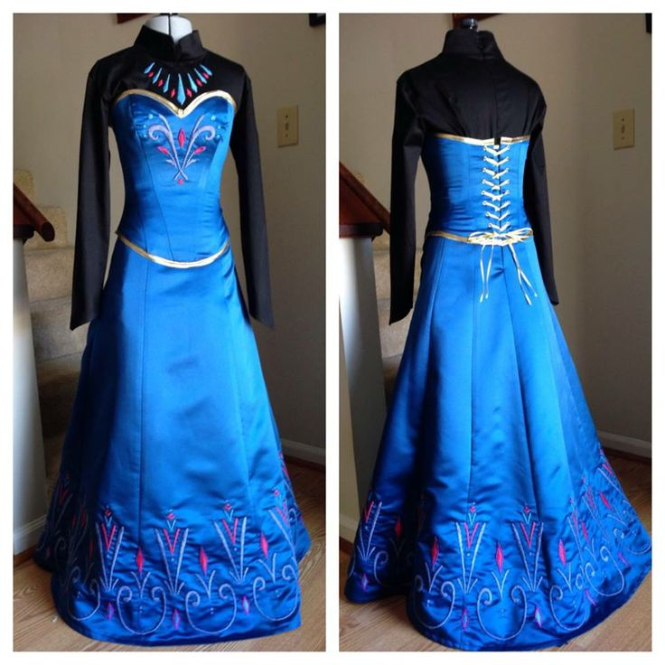 anna coronation dress tutorial