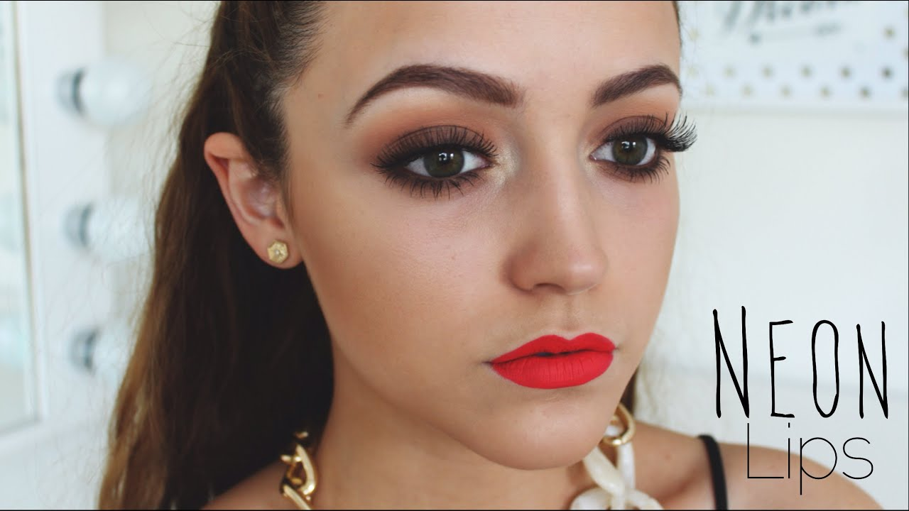 red lip makeup tutorial