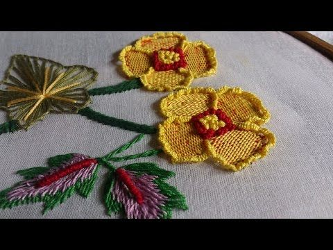 ribbon embroidery tutorial youtube